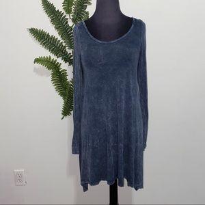 Lani California Dress Blue Tie Dye Marble M